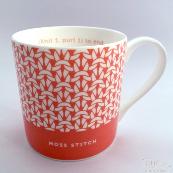 Mug - Moss Stitch Coral - Click Image to Close