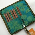 Silk Compact Zip Double Pointed Needles Case