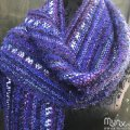 Purple Pop Handwoven Scarf