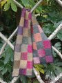Super-Squares Scarf - Roses in the Woods